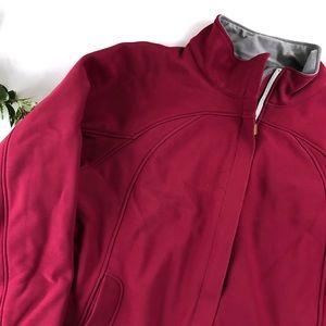 L.L. Bean Windstopper Zip Up Jacket in Pink